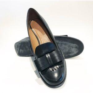 Zara. Black bow loafer 1.5 inch healed Slip on